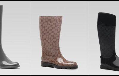 stivali di gomma antipioggia colorati ed eleganti